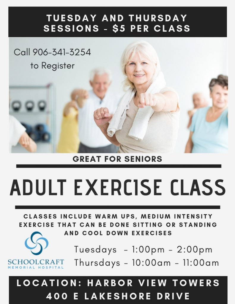 Adult exercise classes